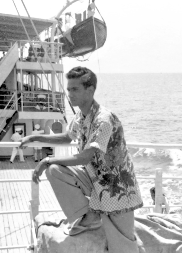 Daddy on ship to to Broome