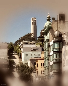 C - View up to Coit tower -signed